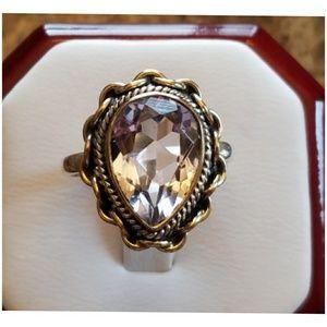 5ct 3 Tone, Pink Kunzite Ring Size 9